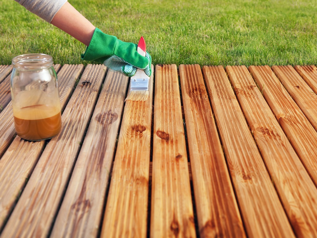 Deck Staining-2 25th June'20