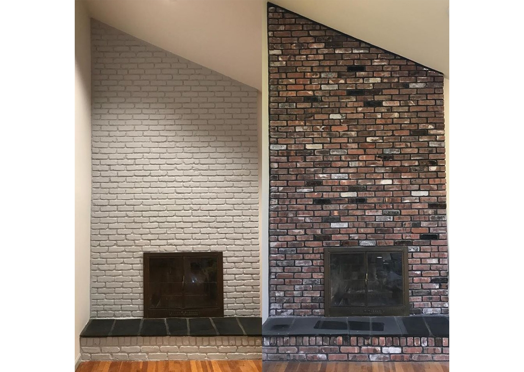 Interior Painting- fire place